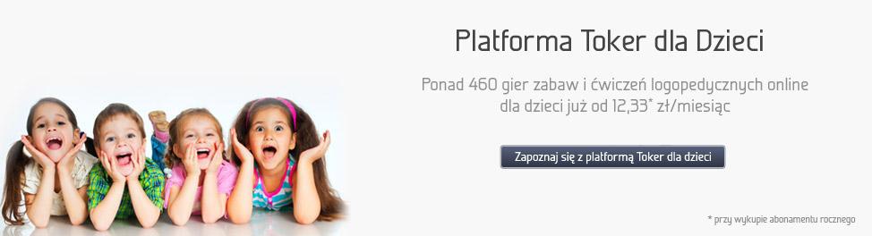 Platforma Toker dla Dzieci. Ponad 460 gier zabaw i ćwiczeń logopedycznych onl